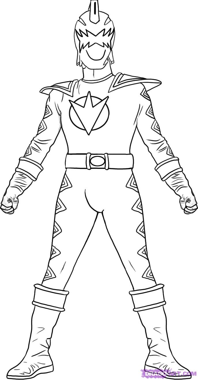 Power Rangers Dino Thunder Coloring Pages Coloring Page For Kids