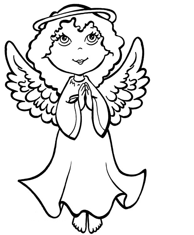 Free Printable Angel Coloring Pages For Kids