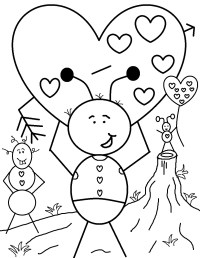 Charmander Valentine Coloring Sheets Coloring Pages
