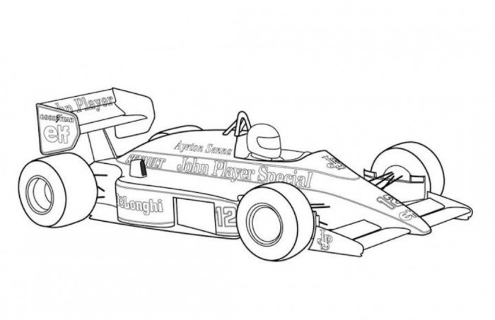 Indy 500 Race Car Coloring Pages Classic Car Coloring