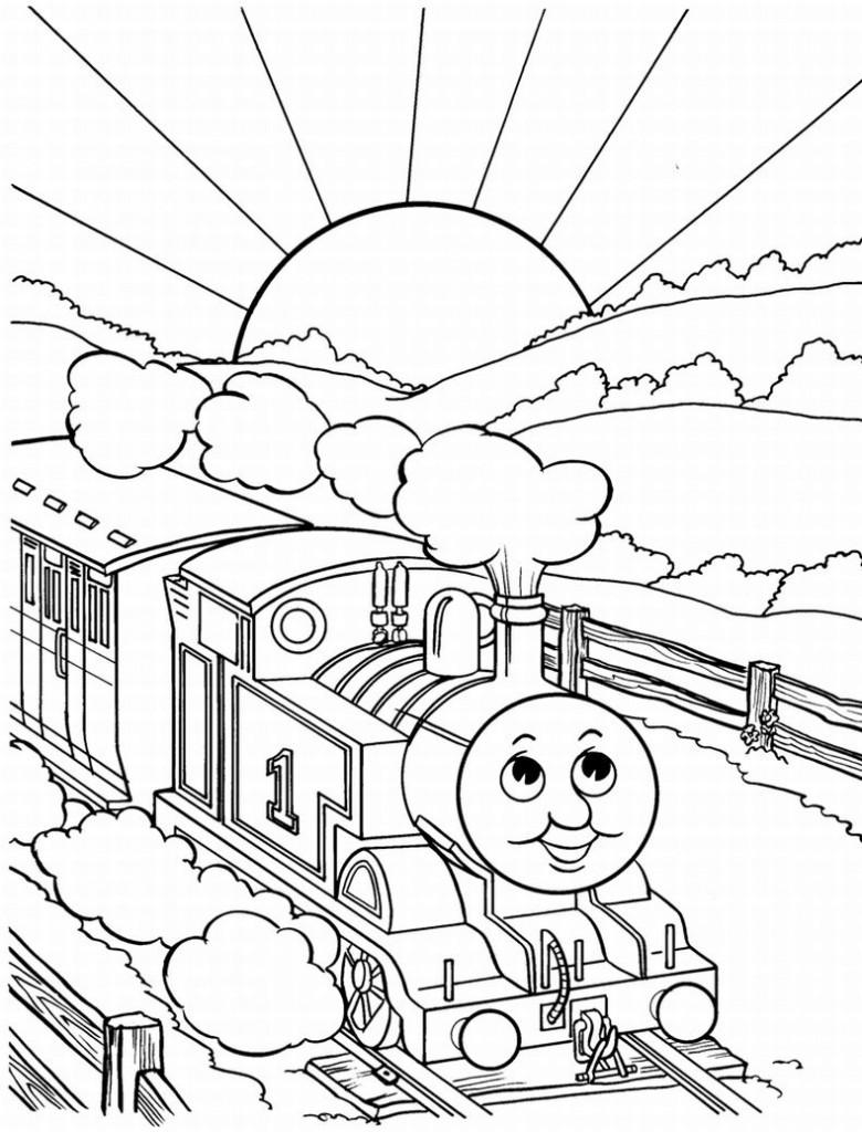 Thomas Tank Engine Coloring Pages, Thomas, Free Engine