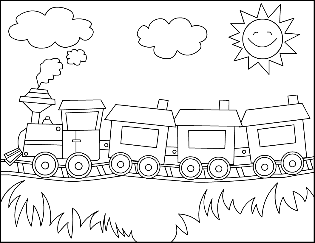 Printable Train Engine Outline, Printable, Free Engine