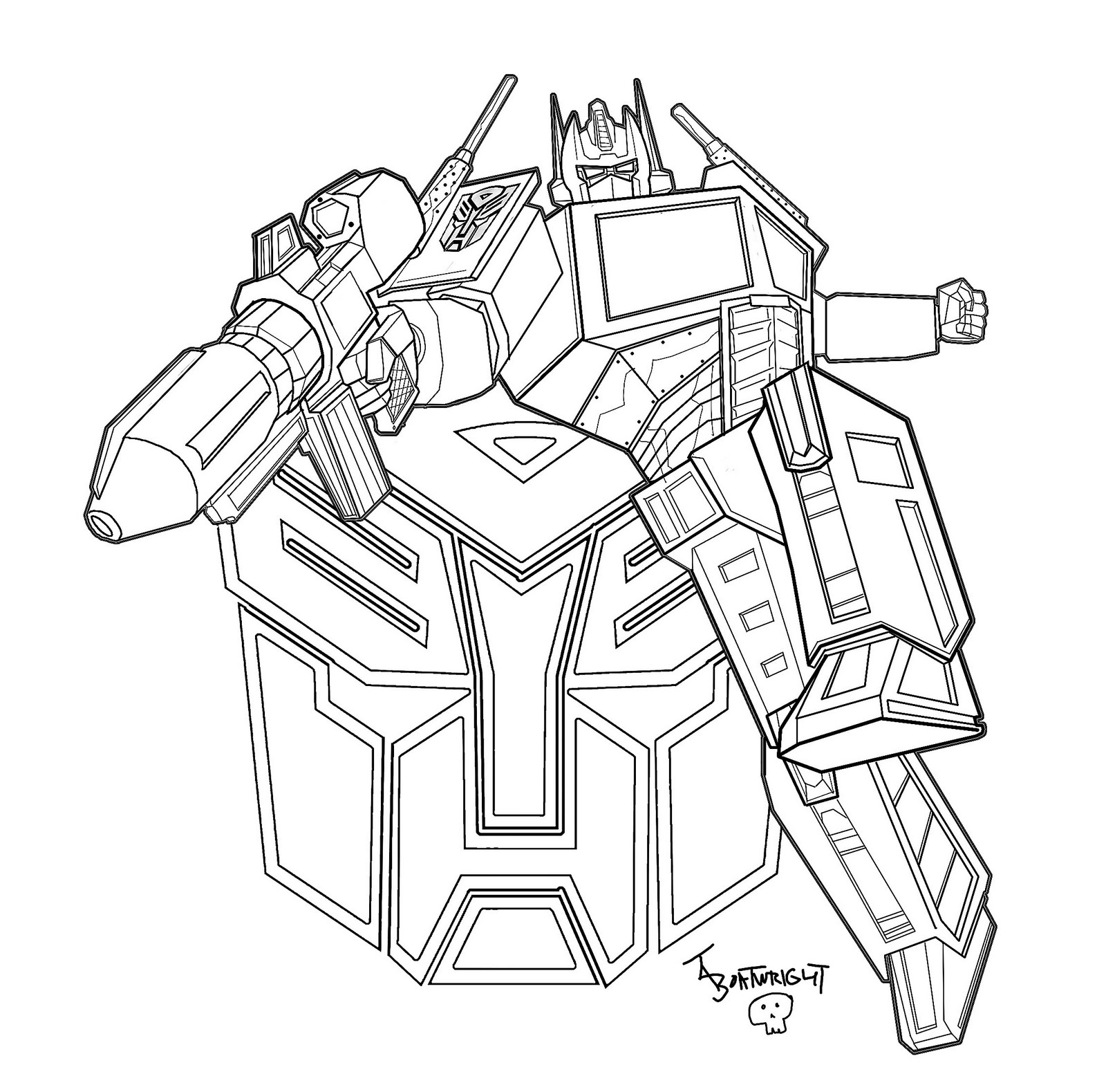 Coloriage crosshairs