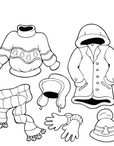 Coloring book with winter clothes also free printable pages for kids rh bestcoloringpagesforkids
