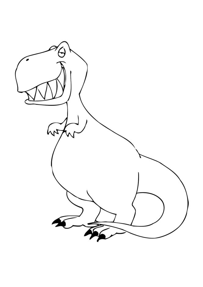 Baby Dinosaur Coloring Pages For Preschoolers | Coloring Page for kids