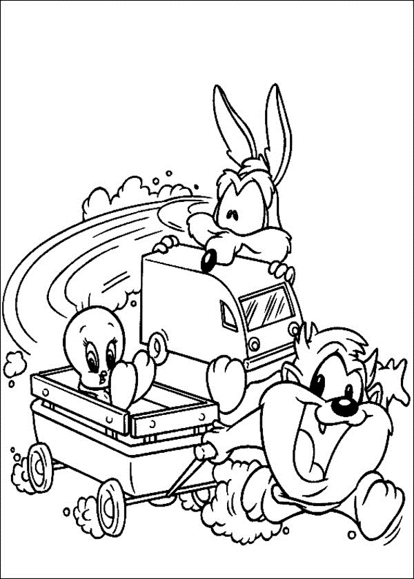 Free Printable Looney Tunes Coloring Pages For Kids