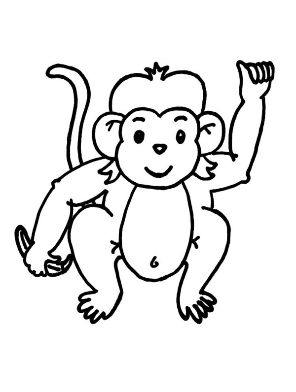 baby monkey coloring pages # 4