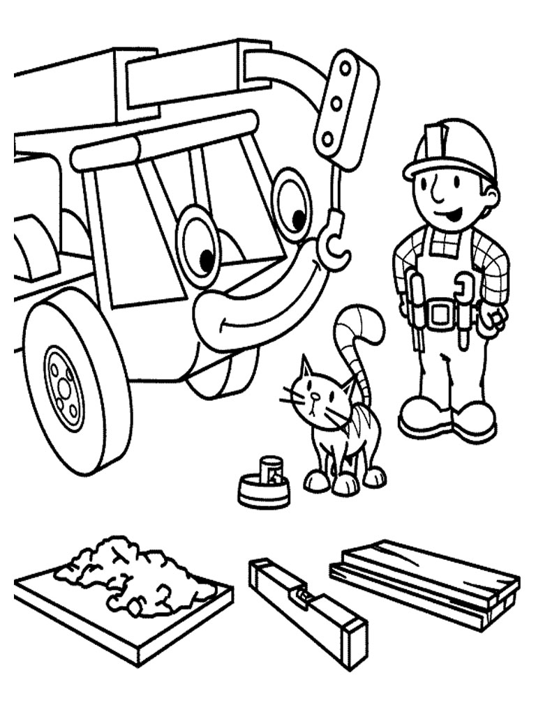 Free Printable Bob The Builder Coloring Pages For Kids Coloration