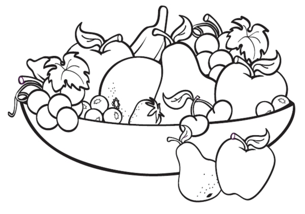 fruit coloring page # 1