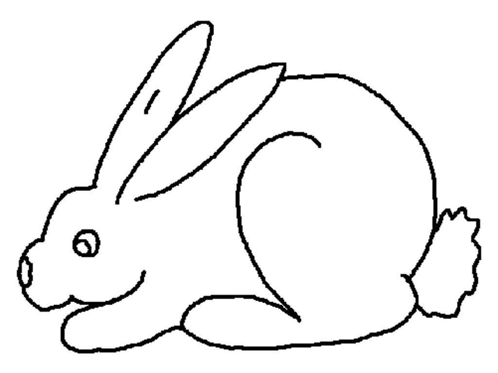 White Rabbit Color Book Printables