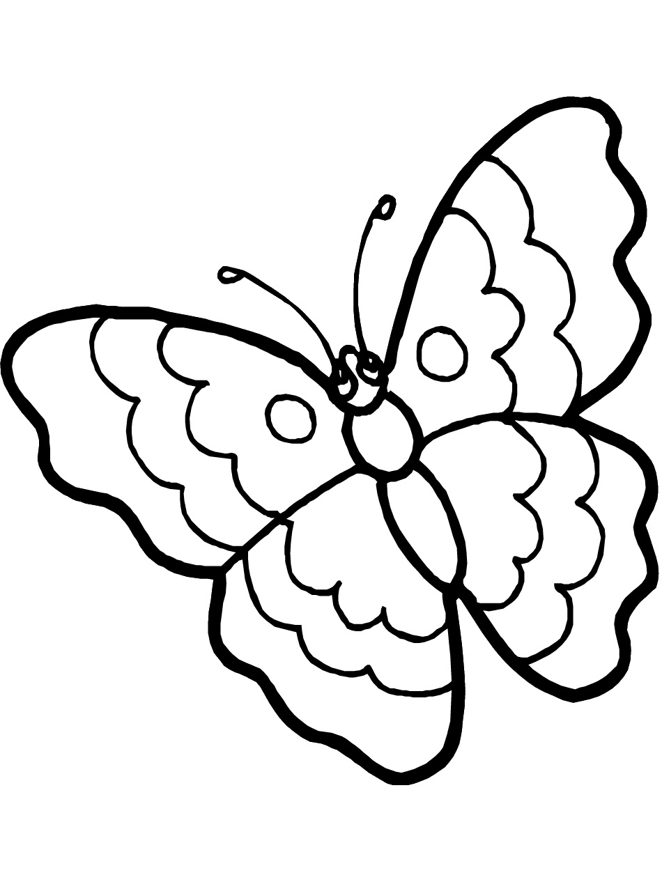 Free Printable Butterfly Coloring Pages For Kids | free colouring pages for toddlers