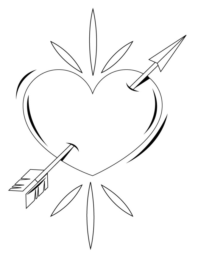 Coloring Heart Pages