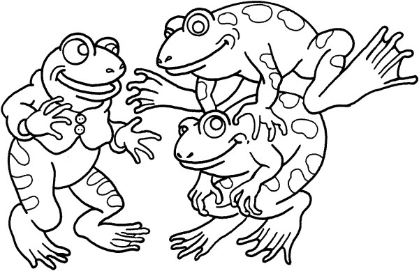 frogs coloring pages # 4