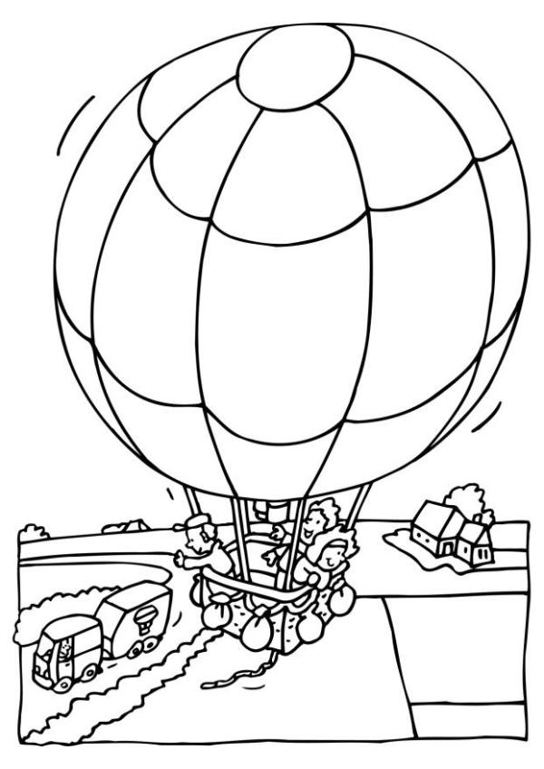 hot air balloon coloring pages # 54