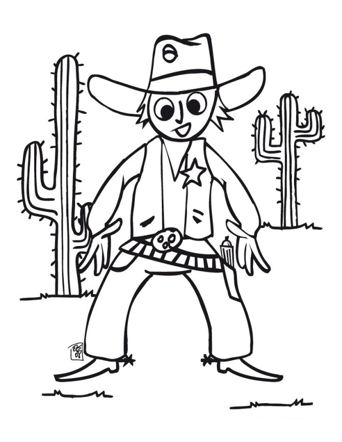 Free Printable Coloring Pages Cowboy