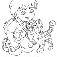 Printable Diego Coloring Pages For Kids Photos Of Dora And Diego Pc Hd Pics