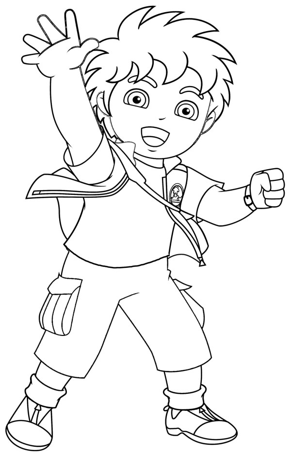 free printable diego coloring pages