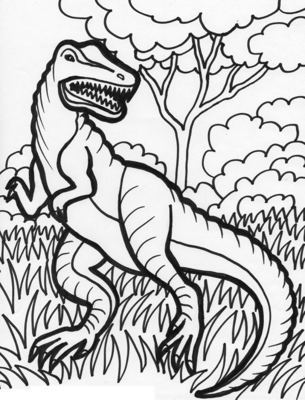 free printable dinosaur coloring pages # 19