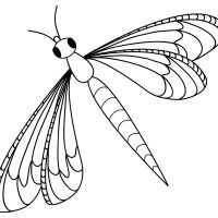 Dragonfly Coloring Pages For Kids Widescreen Page Of Desktop High Resolution Printable