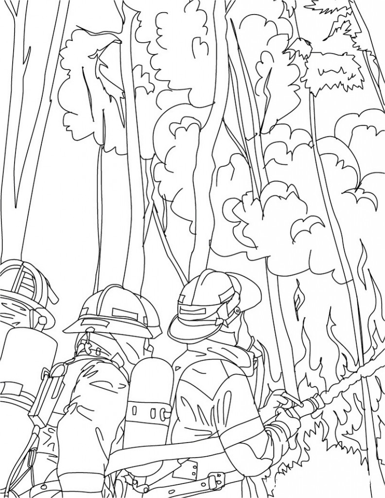 Free Printable Firefighter Coloring Pages For Kids