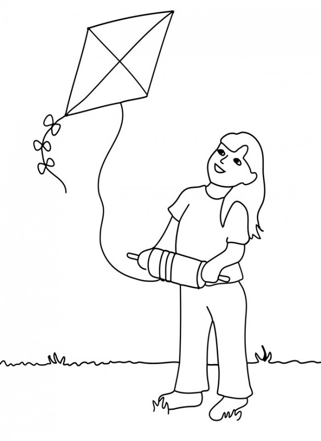 Kite Coloring Sheet Coloring Pages
