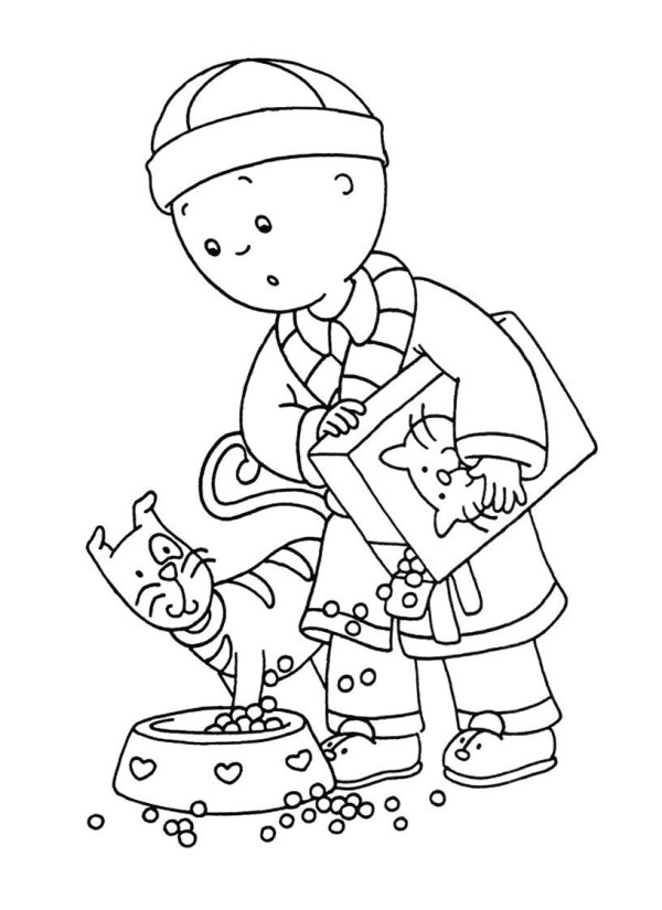 free printable caillou coloring
