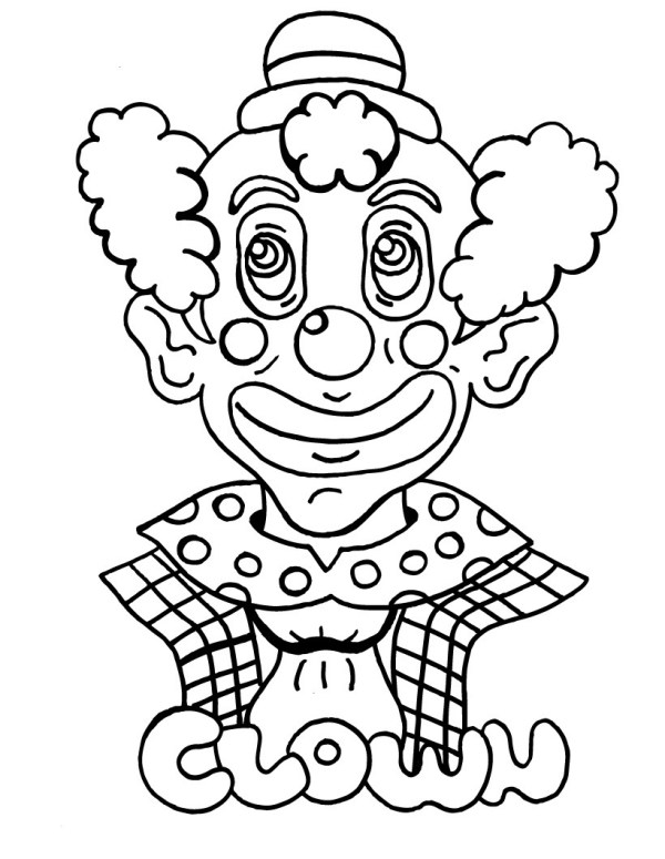 free printable clown coloring pages