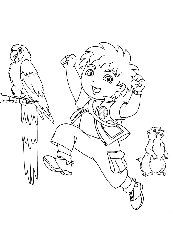 Free Printable Diego Coloring Pages For Kids