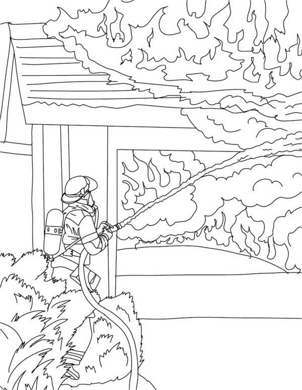 fireman coloring page # 14