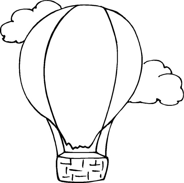 free printable hot air balloon