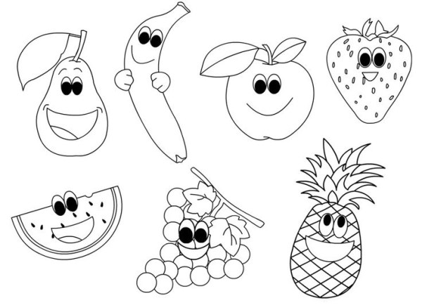 fruits coloring pages # 12