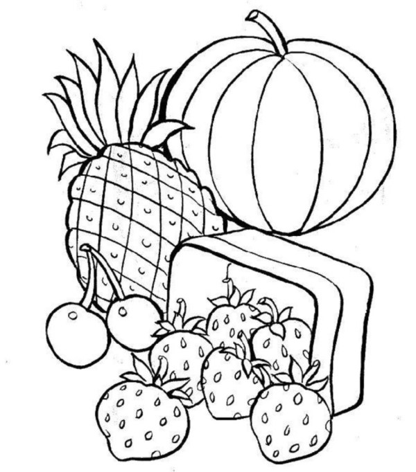 healthy food coloring pages # 11