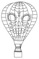 Hot Air Balloon Coloring Pages   Kidsuki