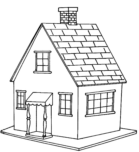 coloring pages of houses # 1