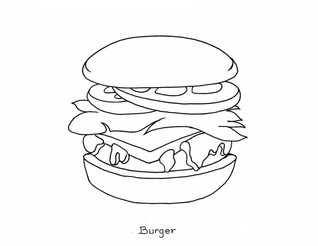 Junk Food Coloring Sheets Coloring Pages