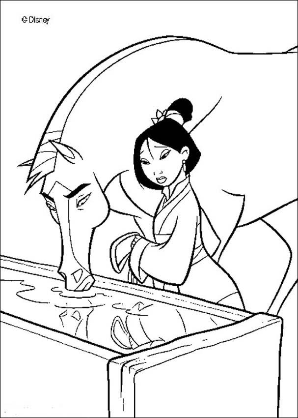 Free Printable Mulan Coloring Pages For Kids