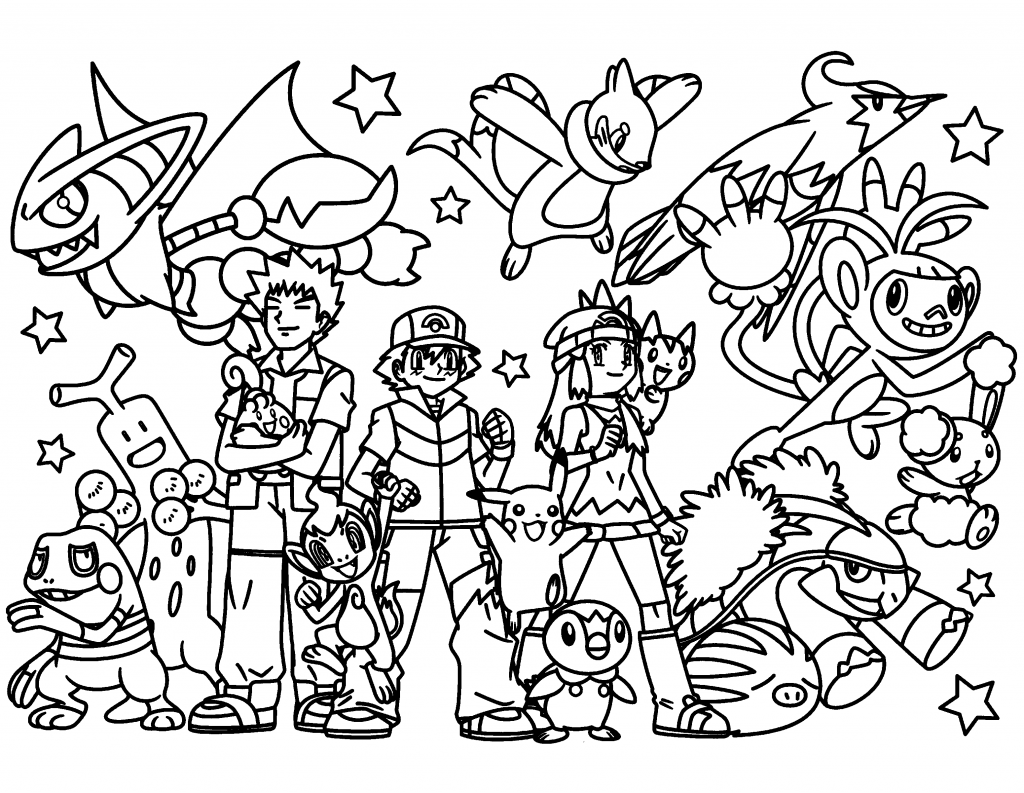 Pokemon Coloring Pages Join Your Favorite Pokemon On An