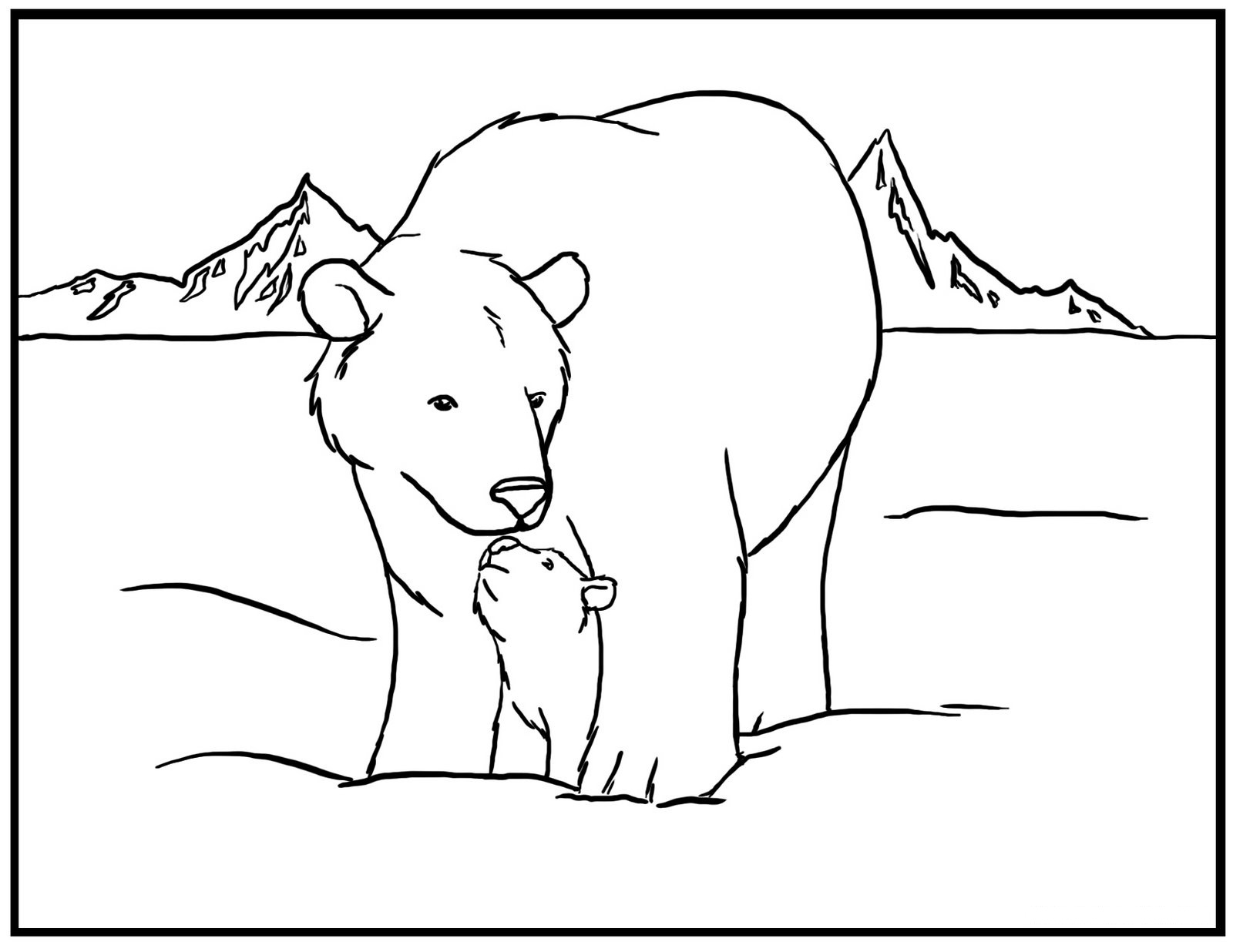 Free Printable Polar Bear Coloring Pages For Kids