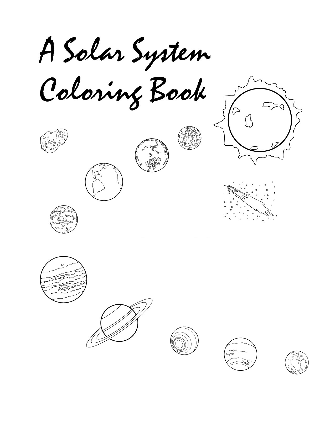 Solar System Drawing For Children