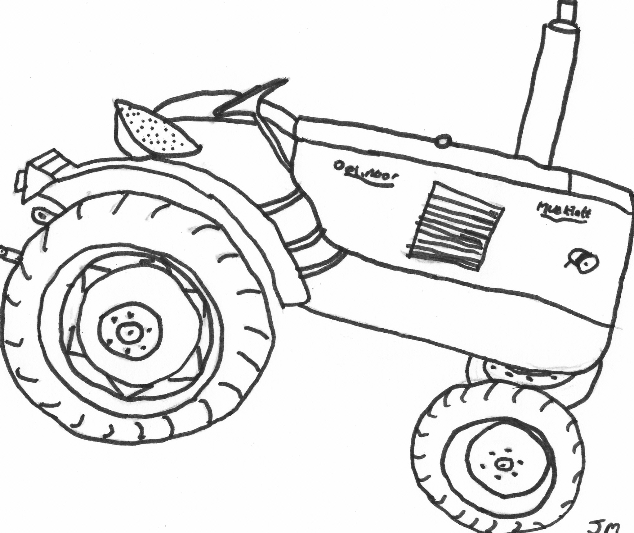 Gleaner Combine Coloring Pages Coloring Pages