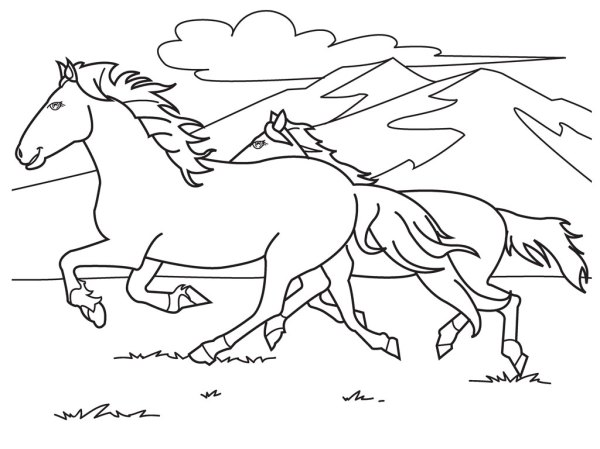 horse coloring pages free # 2