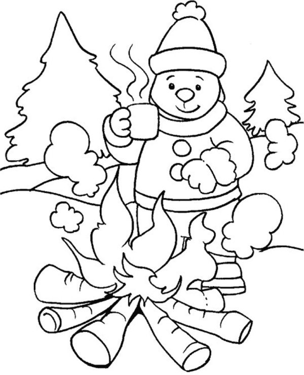 winter coloring pages free printable # 1