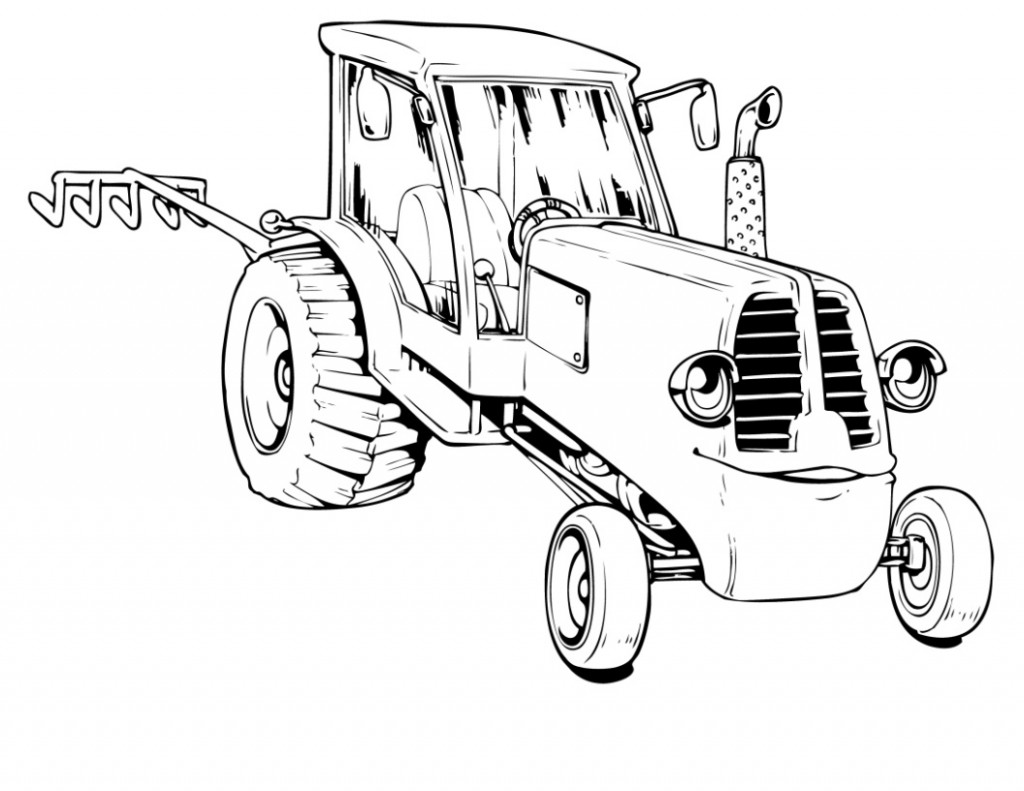 Free coloring pages of tractor ted