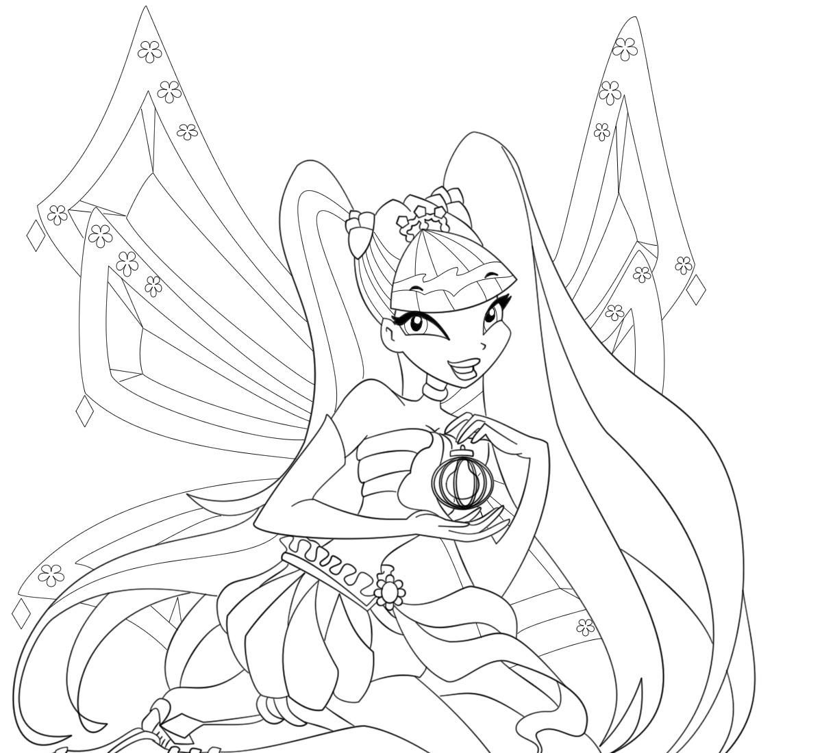 Princess Stella Coloring Pages