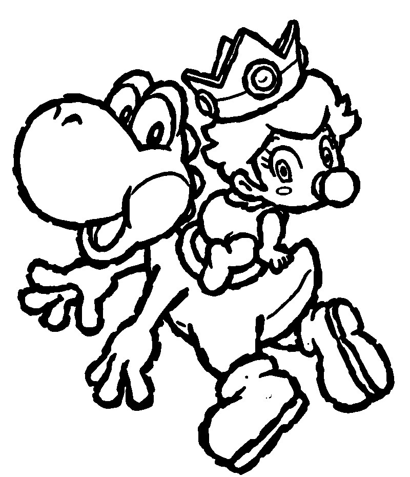Free Printable Yoshi Coloring Pages For Kids