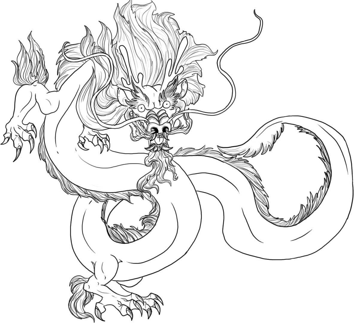 free printable chinese dragon