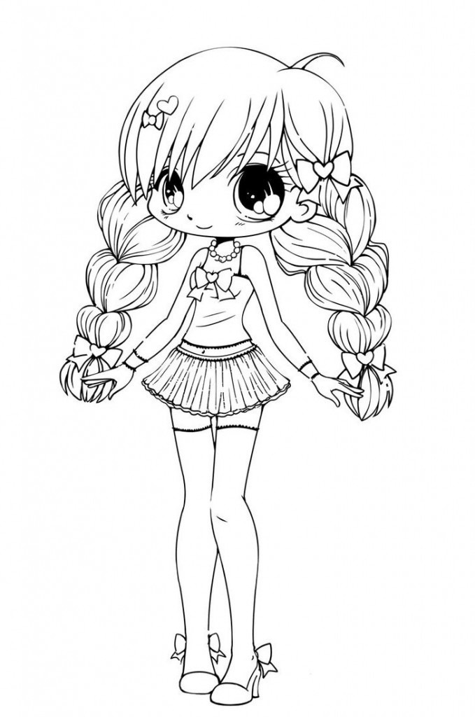 Free Printable Chibi Coloring Pages For Kids