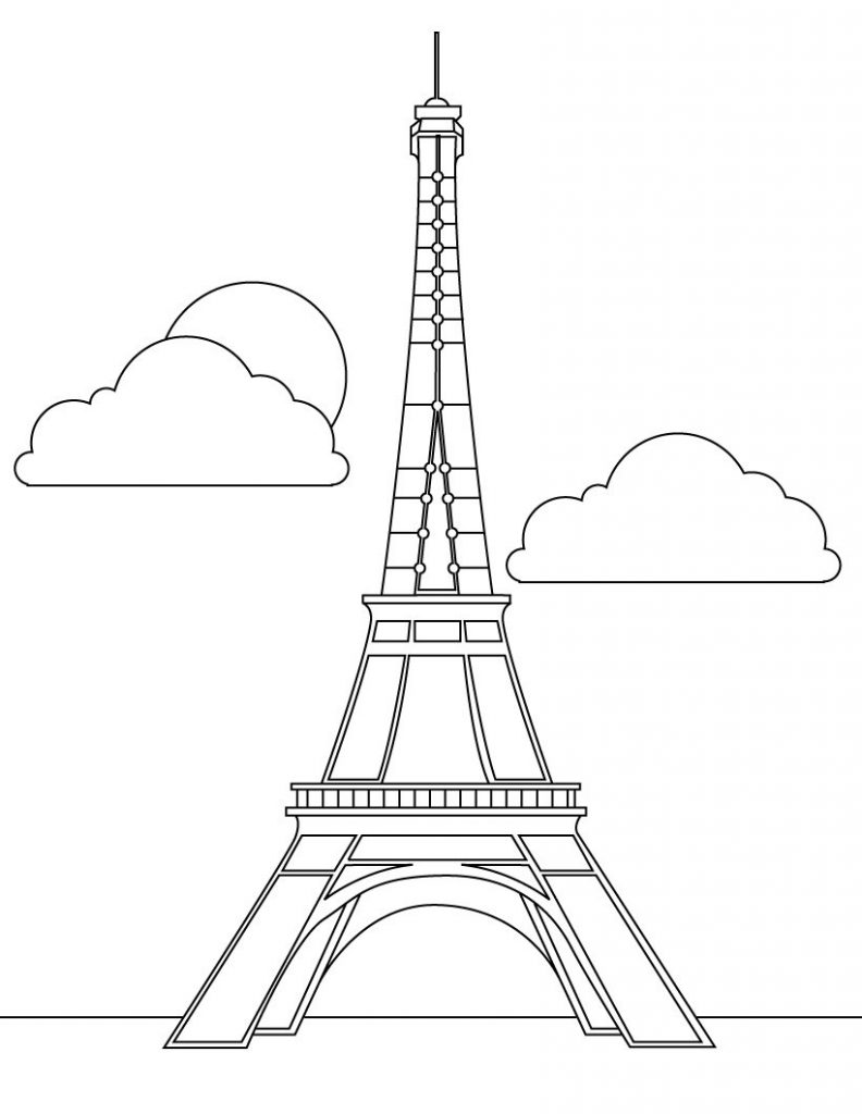 Free Printable Eiffel Tower Coloring Pages For Kids