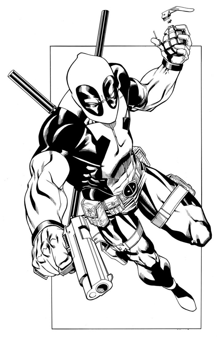 Free Printable Deadpool Coloring Pages For Kids Coloring Pages