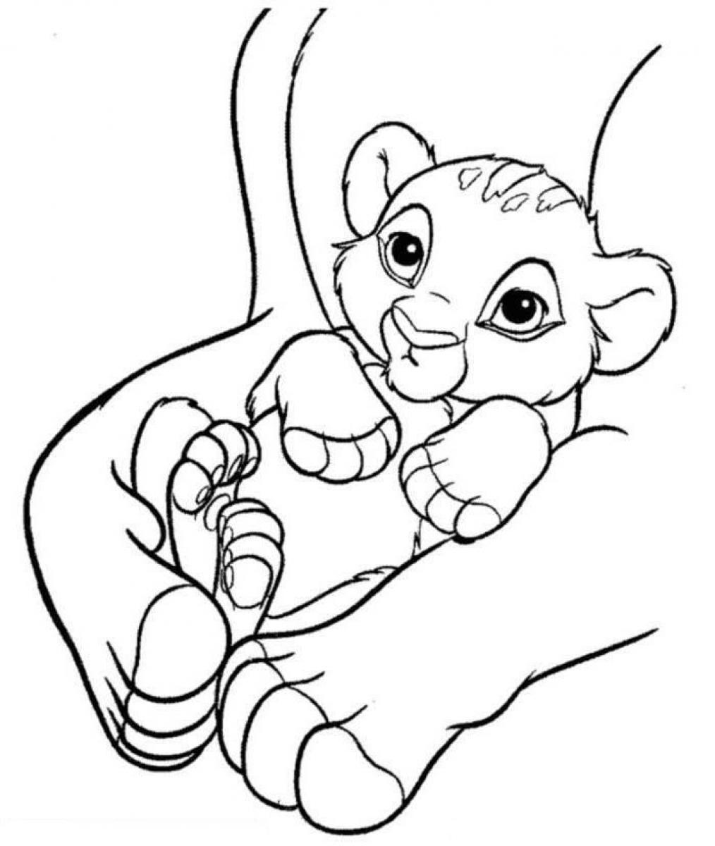 Free Printable Simba Coloring Pages For Kids